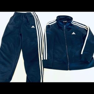 Kids Adidas Navy Blue Track Suit sz 6